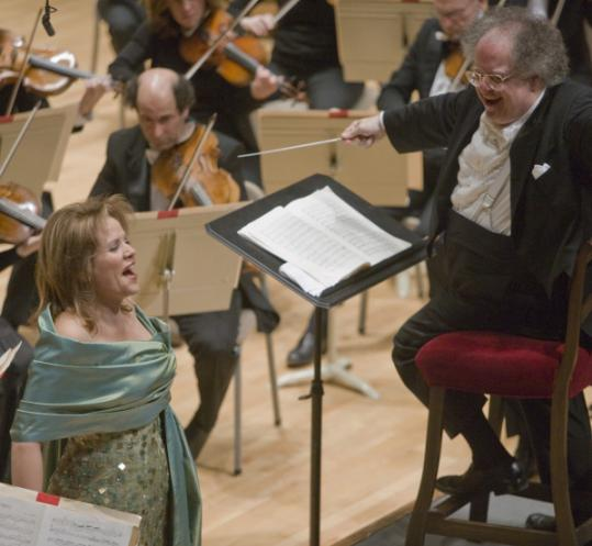 Renée Fleming performs with the Boston Symphony Orchestra, led by James Levine.