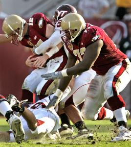 This second-half sack was emblematic of a frustrating day for BC's Matt Ryan, who couldn't beat Virginia Tech a second time.