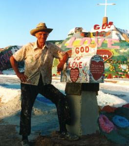 Leonard Knight (above), the creator of Salvation Mountain, is among the many quirky personalities drawn to what director John Waters calls 'an unnatural body of water.'