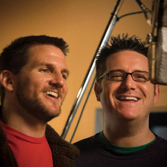 Guster's Adam Gardner (left, with Dave Schneider) says the two 'started writing songs about Hanukkah because we both felt that there was a serious lack of good songs for the holiday, and certainly none that kids could rock out to.'