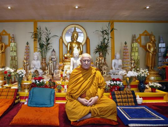 Venerable Ajahn David Chutiko, meditating at Wat Buddhabhavana in Westford, says insight from meditation is serendipitous.