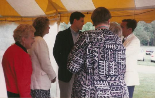 Mitt Romney dismissed this photo, which shows him at a fund-raiser for Planned Parenthood in Cohasset in June 1994. The photo was sent yesterday to several news organizations.