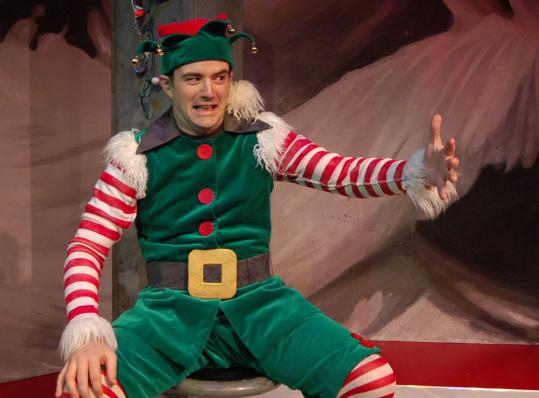 Guy Olivieri stars as Crumpet in a Downstage @ New Rep production of David Sedaris's play 'The Santaland Diaries.'