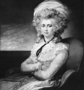 Mrs. Maria Cosway, with whom Jefferson conducted a brief flirtation.