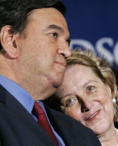 Governor Bill Richardson of New Mexico and his wife, Barbara, both have New England connections. She is from Concord, Mass., where he attended the Middlesex School.