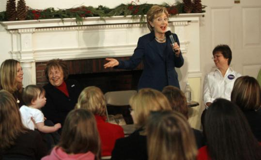 Senator Hillary Clinton introduced her daughter, Chelsea, and mother, Dorothy Rodham, at a Moms and Daughters Making History With Hillary campaign event in Manchester, N.H.
