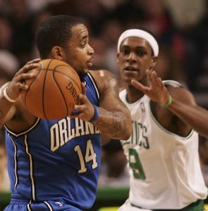 Orlando's Jameer Nelson (left) knows full well to play keep away when Rajon Rondo (game-high four steals) is in the area.