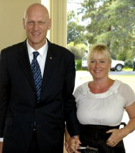 Australia's environment minister, and former Midnight Oil singer, Peter Garrett with his wife, Doris.