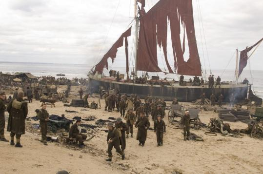 'Atonement' includes a 5 1/2-minute tracking shot that unfolds as the British flee from Dunkirk Beach during WWII.