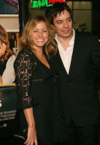 Nancy Juvonen and Jimmy Fallon in LA last February.