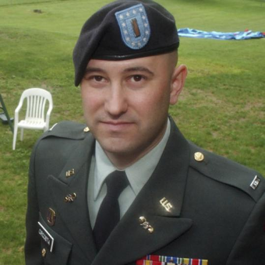 Anthony Circosta, a combat medic in Iraq, was promoted to first lieutenant and awarded a Bronze Star.