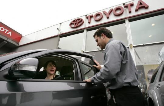 Toyota sold 2.62 million cars and trucks in 2007, 48,226 more than Ford, according to sales figures released yesterday. Toyota's sales were up 3 percent for the year, Ford's sales fell 12 percent.