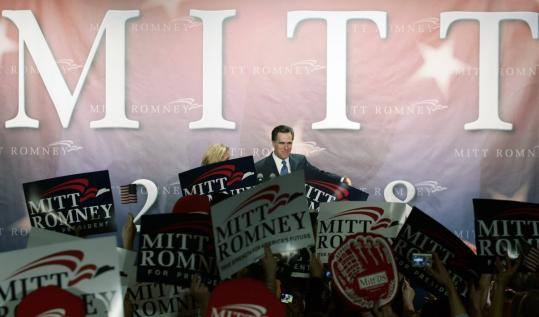 Republican presidential candidate Mitt Romney spoke last night at a GOP caucus in West Des Moines. Romney, who finished second in the state caucuses, spent at least $17 million of his own money on his campaign.