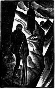 A work by Lynd Ward in the graphic novel show in Stockbridge.