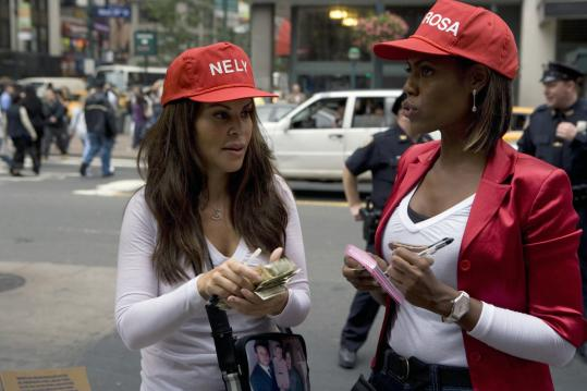 Omarosa (right, with Nely Galan), who appeared on the first season of 'Apprentice,' has returned for 'Celebrity Apprentice.'