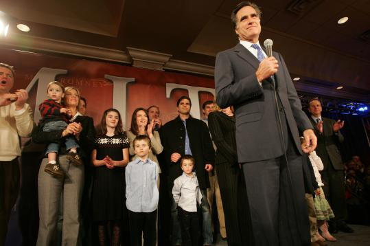 'I'd rather have a gold, but I got another silver,' former governor Mitt Romney of Massachusetts told hundreds of supporters at his party last night in Bedford.
