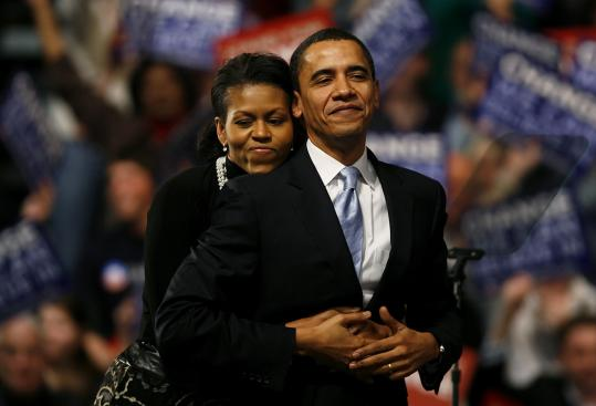 Image result for Barack Obama with his wife