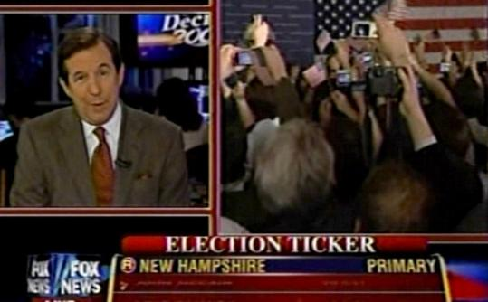 Fox News anchor Chris Wallace was philosophical about the nature of predicting election results: 'I love it. One of the great things about politics is that it doesn't stay on a script.'