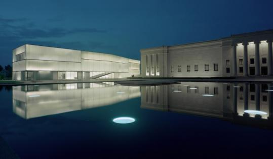 The Bloch Building, a new wing of Kansas City's Nelson-Atkins Museum of Art, opened in June. It is the work of Steven Holl, who designed Simmons Hall dormitory at MIT.