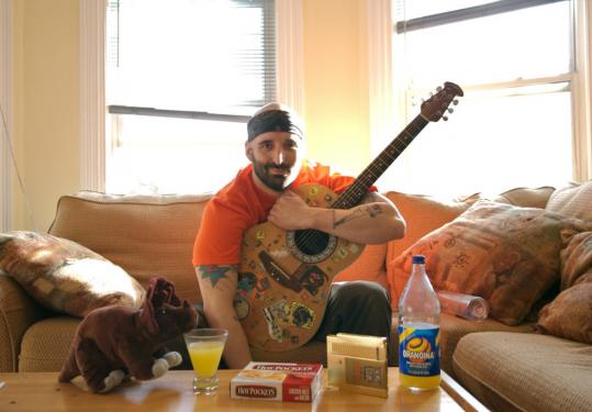 Musician-comic Robby Roadsteamer goes acoustic on his brutally funny new disc, 'LRP.'