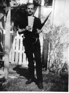 JFK assassin Lee Harvey Oswald, posing in 1963.