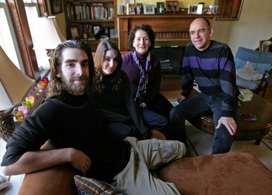 Michael Haas, 18, appeared with his family in a new educational documentary about teenage depression. Seated with him is his sister, Rachel, and his parents, Ronnie and Chris.