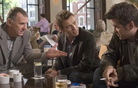 Ewan McGregor (center) and Colin Farrell (right) play risk-taking brothers who emulate their wealthy uncle (Tom Wilkinson).