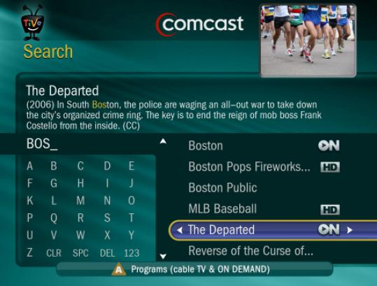 Comcast is offering TiVo as a premium service only in the Boston area.