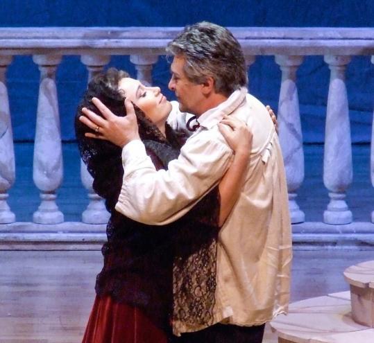 Olga Chernisheva and Orlin Goranov in Teatro Lirico d'Europa's 'Tosca.'