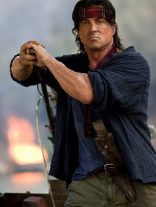 In his fourth film, John Rambo (played by Sylvester Stallone) is recruited to save a church group being held captive in Burma.