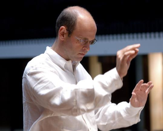 Boston Modern Orchestra Project artistic director Gil Rose was presented with Columbia University's Alice M. Ditson Conductor's Award before Friday's concert.