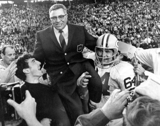 Vince Lombardi was demanding and drove his players hard because he had a vision and wanted to fulfill it. That work ethic often led to success, as it did in Super Bowl II, when he was carried off the field after his team defeated the Oakland Raiders 33-14.