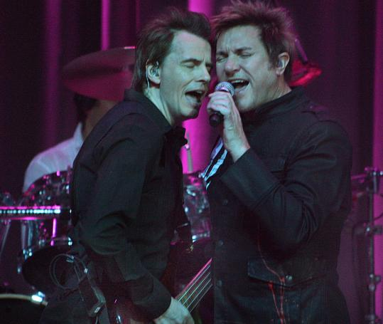 John Taylor (left) and Simon Le Bon of Duran Duran rock the Big Brother Big Sister fund-raiser.