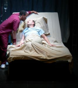 Maurice Parent (left) with Richard McElvain in the second part of Boston Theatre Works' production of 'Angels in America.'