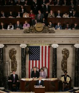 President Bush delivered his State of the Union address last night before a joint session of Congress on Capitol Hill.