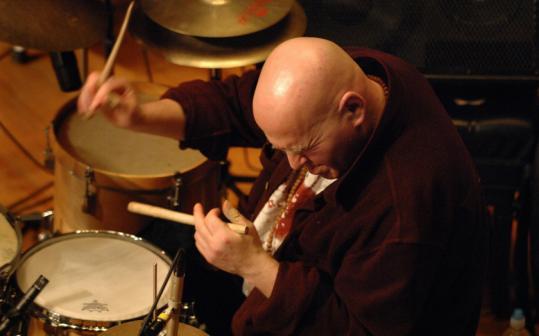 Rakalam Bob Moses plays at his 60th birthday celebration.