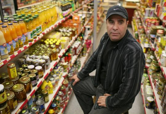 Ahmad Karageh's store specializes in Mediterranean products.
