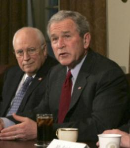President Bush said Congress's prohibition on building permanent military bases in Iraq infringes on his executive powers.