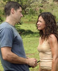 Matthew Fox and Evangeline Lilly in tonight's episode.