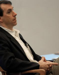Gary Dodds, who is accused of faking his disappearance, listened yesterday to testimony during his trial in Dover, N.H.