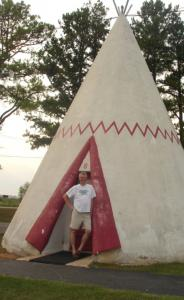 Bill Sides at Wigwam Village in Cave City, where the tepees are concrete.