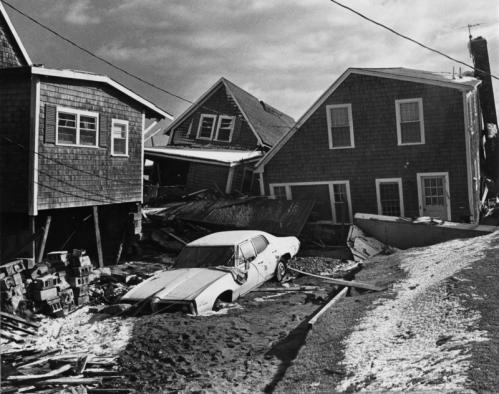 In Scituate, on Lighthouse Road in the Sand Hills section, exceptionally high tides and hurricane-strength winds threw houses and cars around like toys in the Blizzard of '78.