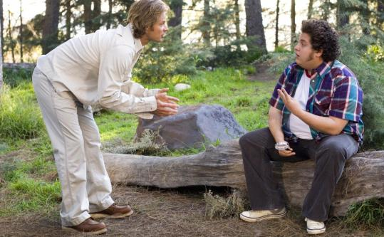 Steve Zahn (left) and Jonah Hill play stoners running a nature show in