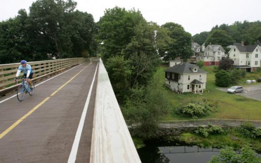 The 5-mile-long Assabet River Rail Trail, which connects Hudson with Marlborough, has become popular with walkers, bicyclists, and skaters.