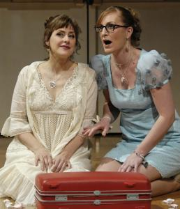 Lisa Saffer (left, with Paula Murrihy) performed the title role in 'Semele.'