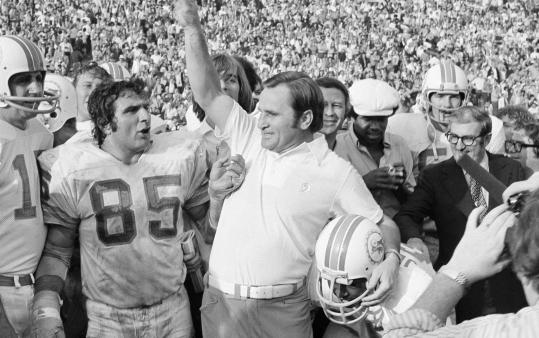 Many of coach Don Shula's undefeated 1972 Dolphins had to have offseason jobs to supplement their football salaries.