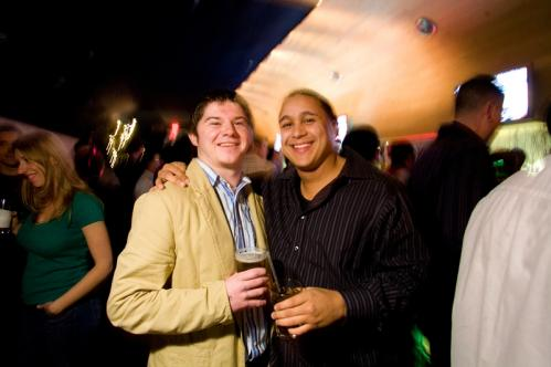 Guys just want to have fun: John Jolley (left) and Luis Lara shared a drink at Sanctuary. More info on Sanctuary SUBMIT Your nightlife photos! TALK What scene should we visit next?