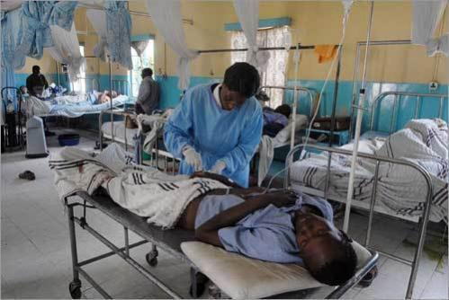 ' The Kikuyus circumcised me by force', said a man named Caleb before fainting in the overheated and overcrowded waiting room at a hospital in Naivasha. Cutting off part of a man's genitals has become a tool of war, making victims bleed profusely and increasing the chances of dying in extreme pain, according to an international humanitarian aid source.