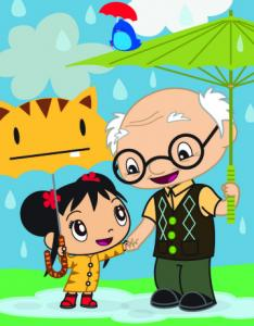 Kai-lan and her grandfather, Yeye, will ask kids for help.