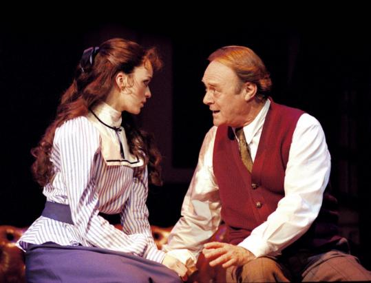 Lisa O'Hare as Eliza Doolittle and Christopher Cazenove as Professor Higgins in 'My Fair Lady.'
